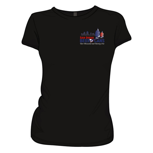 San Diego Beer Cans 2021 Women's Cotton T-Shirt (Black)