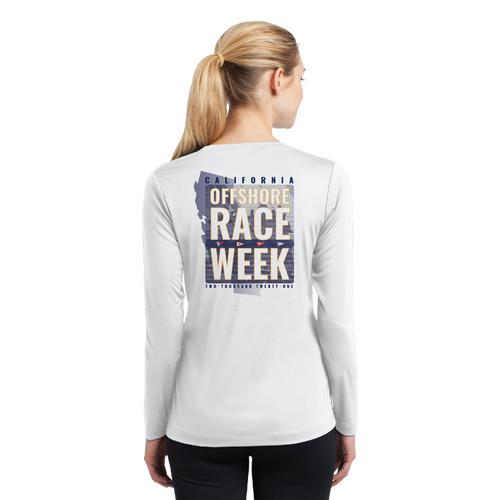 California Offshore Race Week 2021 Women's Wicking Long Sleeve Shirt (Customizable)