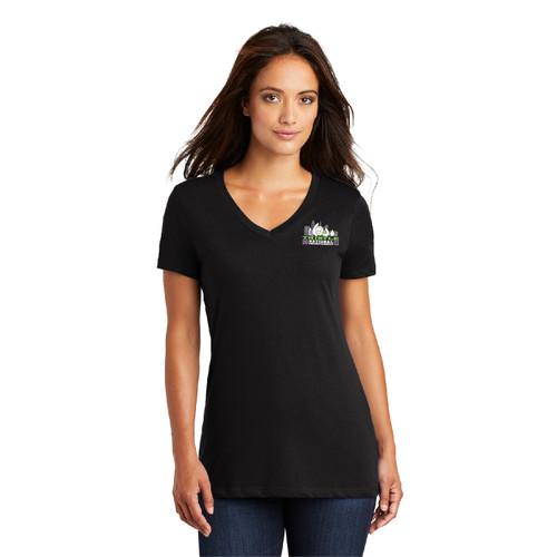 Thistle Nationals 2021 Women's Cotton V-Neck T-Shirt