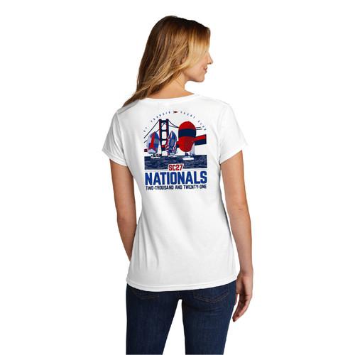 Santa Cruz 27 Nationals 2021 Women's Cotton V-Neck T-Shirt