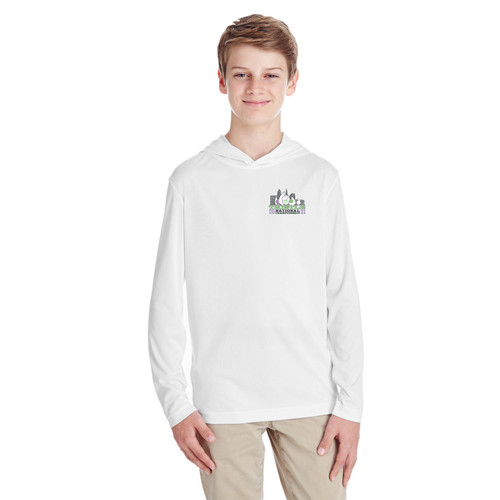 Thistle Nationals 2021 Youth Hooded Wicking Shirt (White)