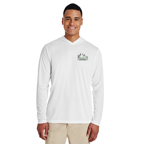 Thistle Nationals 2021 Unisex Hooded Wicking Shirt (White)