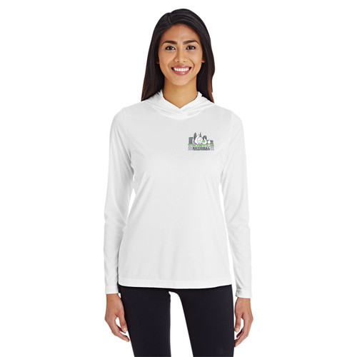 Thistle Nationals 2021 Ladies Hooded Wicking Shirt (White)