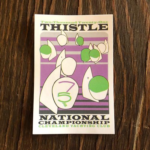 Thistle Nationals 2021 Sticker