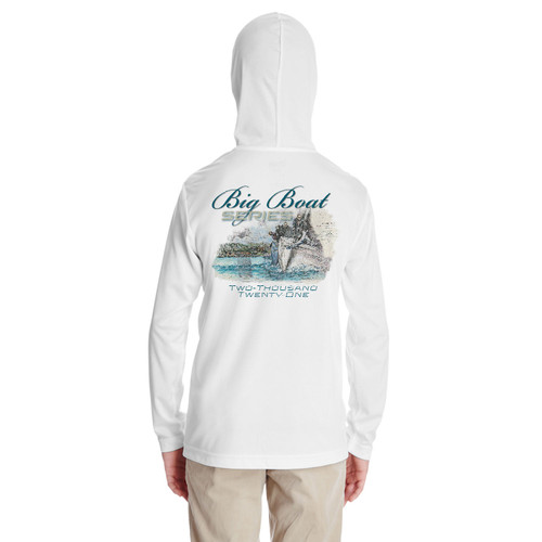 Rolex Big Boat Series 2021 Youth Hooded Wicking Shirt (White)