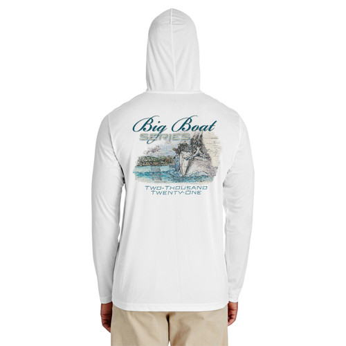 Rolex Big Boat Series 2021 Unisex Hooded Wicking Shirt (White)