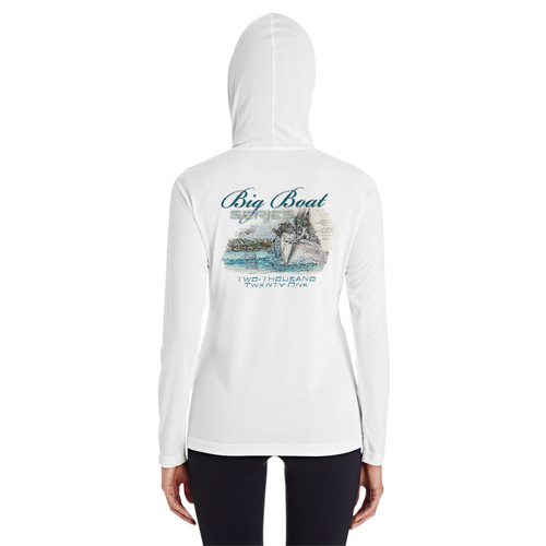 Rolex Big Boat Series 2021 Ladies Hooded Wicking Shirt (White)
