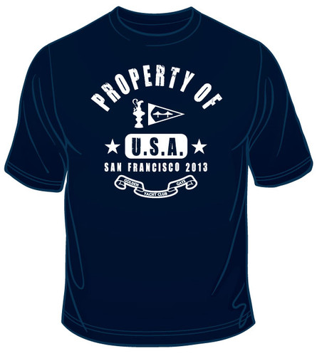 "AC34 Golden Gate YC ""Property of San Francisco"" Logo T-Shirt"