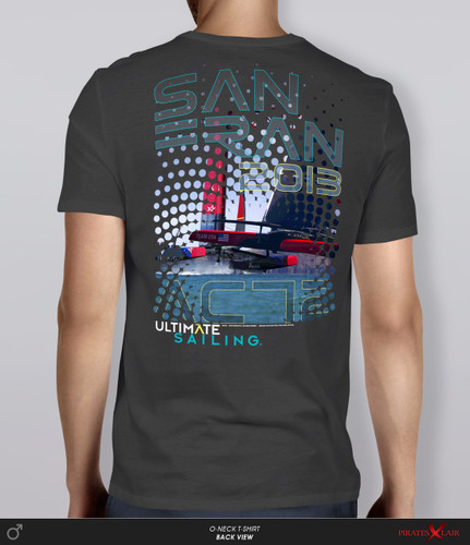 "AC72 ""Halftone"" T-Shirt by Ultimate Sailing"
