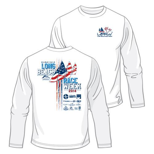 Long Beach Race Week 2014 UPF 50+  Wicking Shirt (Customizable)