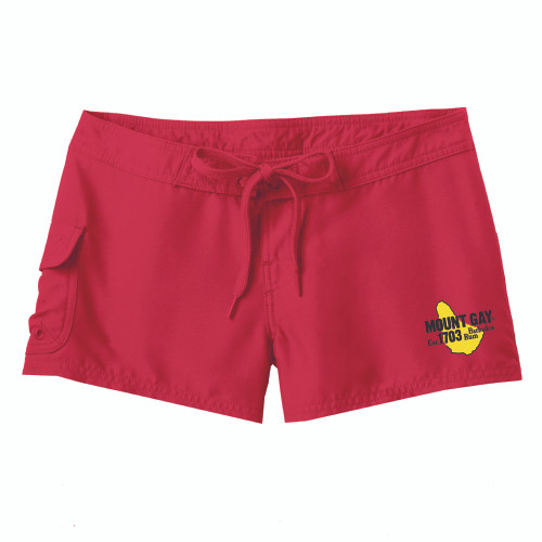 Mount Gay® Rum Girl's Board Shorts (Red)