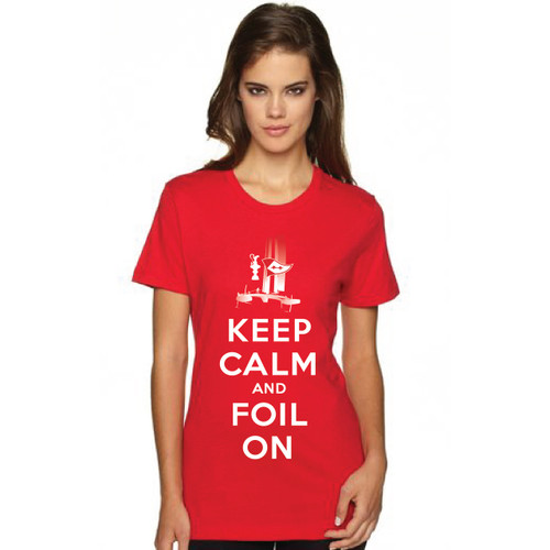 """35th America's Cup 2017 GGYC """"Keep Calm and Foil On"""" Women's T-Shirt"""