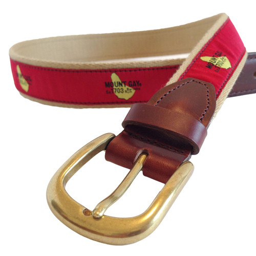 CLEARANCE! Mount Gay® Rum Premium Leather Belt
