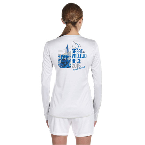 Great Vallejo Race 2015 Women's Wicking Shirt (Customizable)