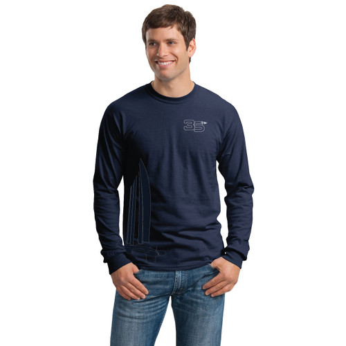 "35th America's Cup 2017 GGYC ""Foiling Cat"" Men's Long Sleeve T-Shirt"