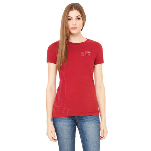 """35th America's Cup 2017 GGYC """"Foiling Cat"""" Women's T-Shirt"""