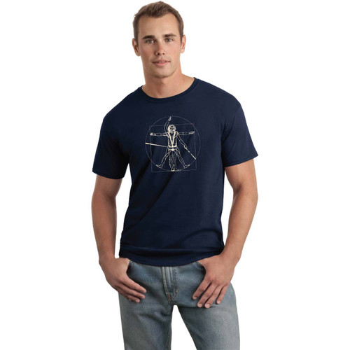"DaVinci ""Trapeze Man"" Multihull and Skiff Sailors Cotton T-Shirt for Men"