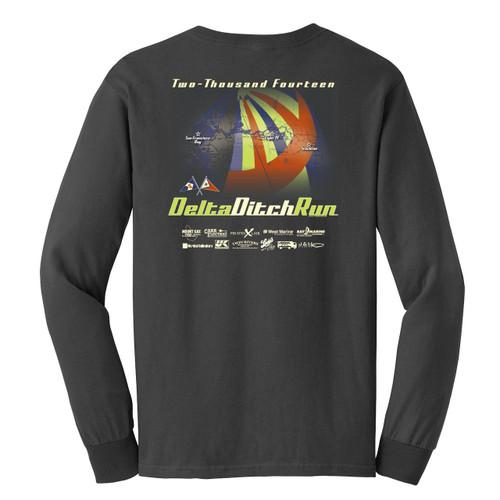 Delta Ditch Run 2014 Long Sleeve Cotton T-Shirt