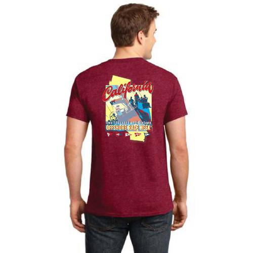 California Offshore Race Week 2016 Men's Cotton T-Shirt Red