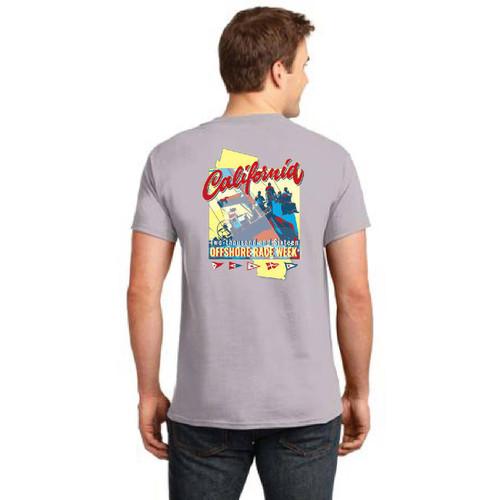 California Offshore Race Week 2016 Men's Cotton T-Shirt Gray