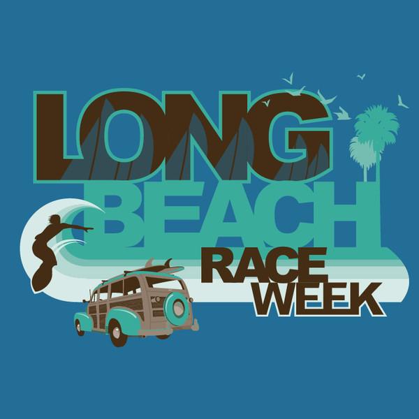 CLOSEOUT! Long Beach Race Week Women's Cotton T-Shirt (Antique Sapphire)