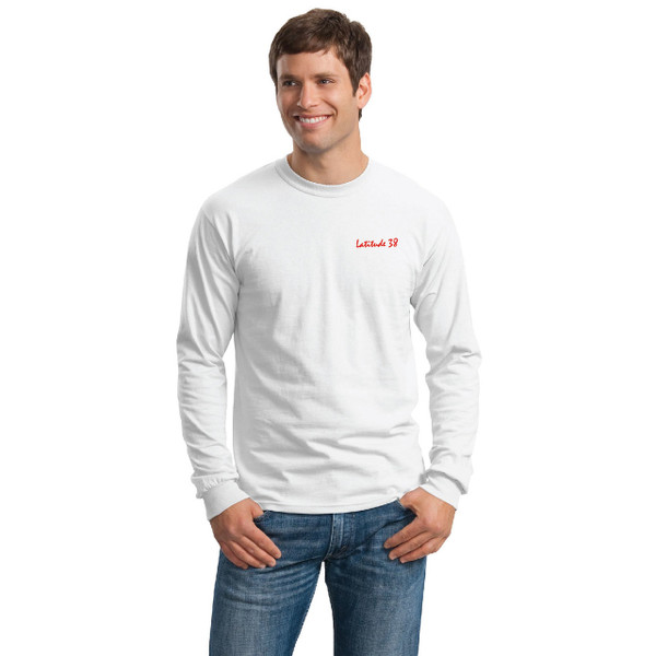 Latitude 38 Long Sleeve Cotton Logo Tee