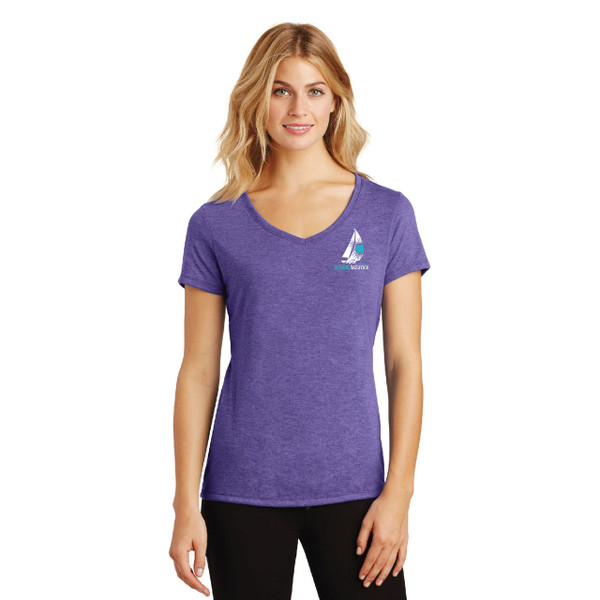 2019 Summer Sailstice Women's V-Neck Tri-Blend Cotton T-Shirt