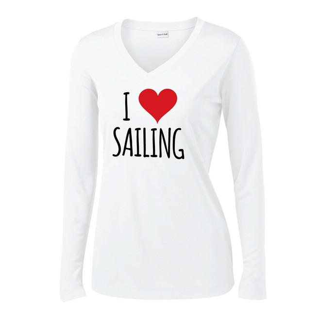 I Love Sailing Women's Wicking Shirt