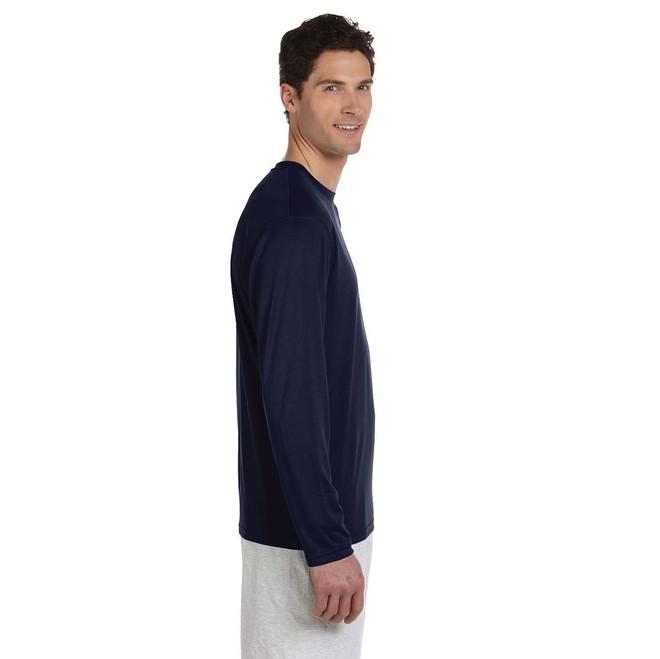 American Sailing Association Compass Rose UPF 50+ Wicking Shirt (Navy)