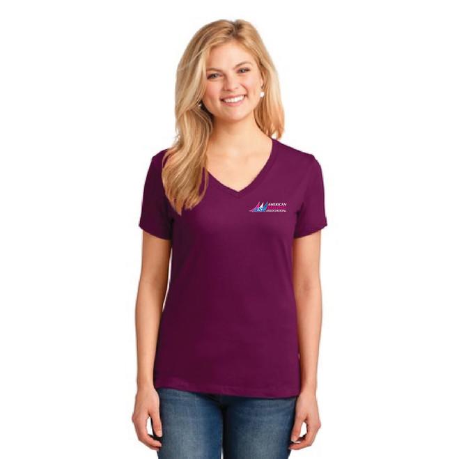 American Sailing Association Compass Rose V-Neck Cotton T-Shirt