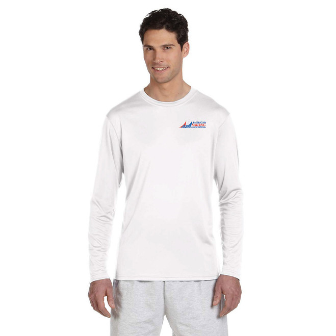 American Sailing Association Compass Rose UPF 50+ Wicking Shirt White (Customizable)