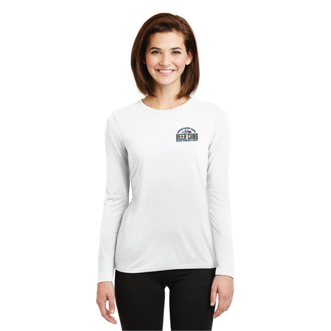 CRA Beer Cans San Diego 2017 Women's Wicking Long Sleeve Shirt (Customizable)
