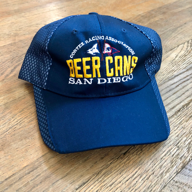 CRA Beer Cans San Diego Cotton Sailing Cap (Navy with mesh back)