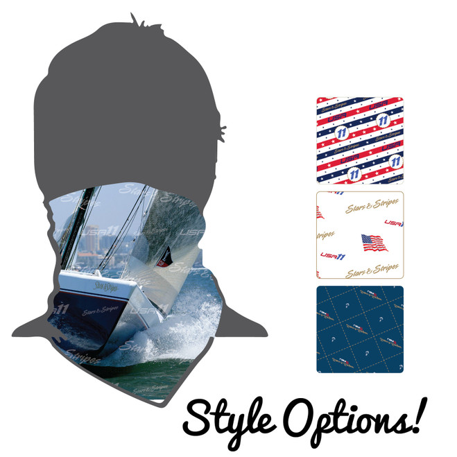 Stars & Stripes USA-11 Moisture Wicking Neck Gaiter (Buff)