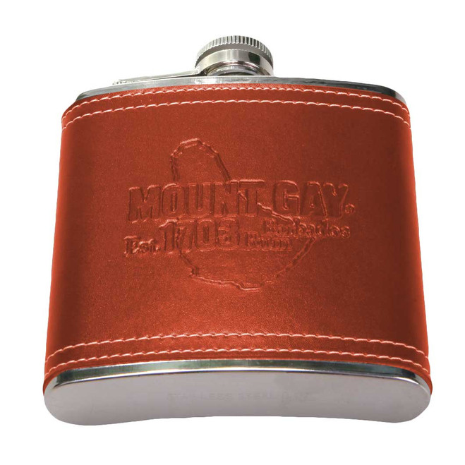 CLEARANCE! Mount Gay® Rum Leather Bound 6oz Flask