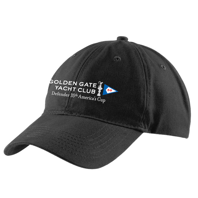 """35th America's Cup 2017 Golden Gate Yacht Club """"35th Defender"""" Brushed Twill Low Profile Cap"""