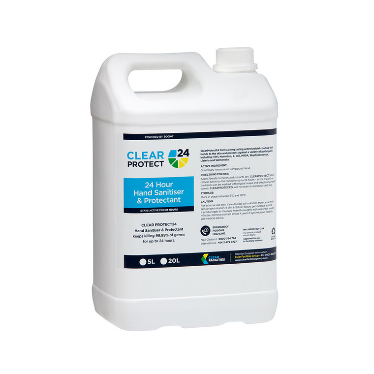 Clear Protect 24 Hand Sanitiser & Protectant 5L