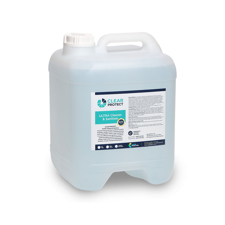 Clear Protect Ultra Cleaner & Sanitiser 20L