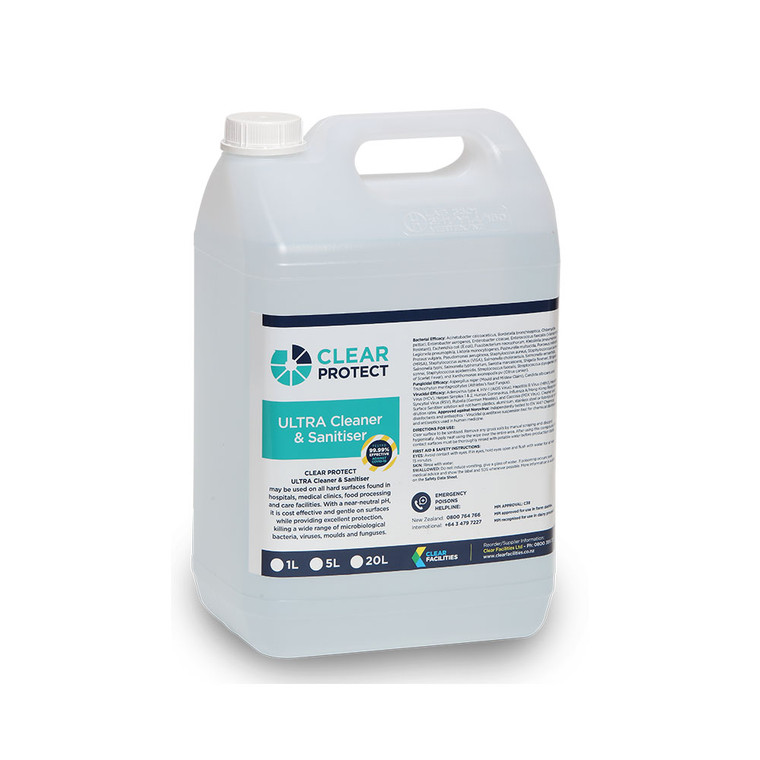 Clear Protect Ultra Cleaner & Sanitiser 5L
