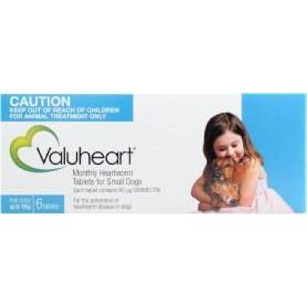 Valuheart Monthly Heartworm Tablets for Small Dogs up to 22 lbs - Blue 6 Pack