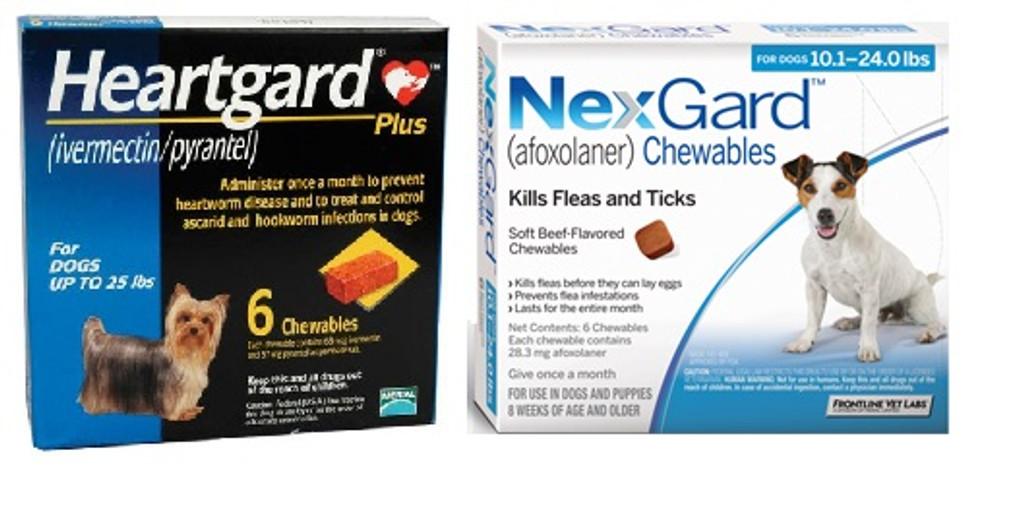Nexgard And Heartgard Combo For Dogs 101 24 Lbs 6 Pack