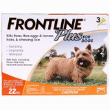 Frontline Plus for Dogs up to 22 lbs (up to 10 kg) - Orange 3 Doses (10/2022 Expiry)
