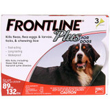 Frontline Plus for Dogs 89-132 lbs (40.1-60 kg) - Red 3 Doses (06/2021 Expiry)
