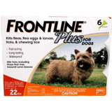 Frontline Plus for Dogs up to 22 lbs (up to 10 kg) - Orange 6 Doses (09/2022 Expiry)