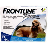 Frontline Plus for Dogs 23-44 lbs (10.1-20 kg) - Blue 6 Doses (08/2022 Expiry)