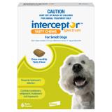 Interceptor Spectrum Chews for Dogs 8.1-25 lbs (4-11 kg) - Green 6 Chews