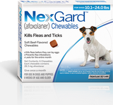 Nexgard Chews for Dogs 10.1-24 lbs (4.1-10 kg) - Blue 3 Chews