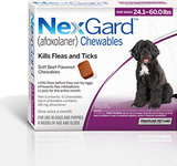 Nexgard Chews for Dogs 24.1-60 lbs (10.1-25 kg) - Purple 3 Chews