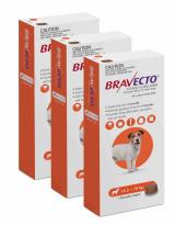 Bravecto Flea and Tick Chew for Dogs 9.9-22 lbs (4.5-10 kg) - Orange 3 Chews