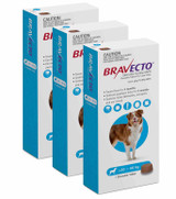 Bravecto Flea and Tick Chew for Dogs 44-88 lbs (20-40 kg) - Blue 3 Chews